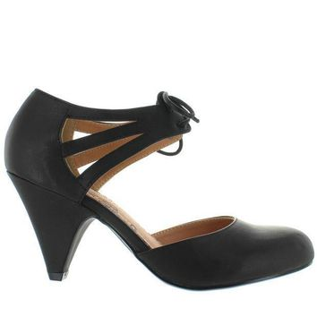 Restricted Kristy Black Retro Oxford Pump