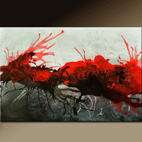 Abstract Art Painting on Canvas Original 36x24 Contemporary Fine Art by Destiny Womack - dWo - The Struggle