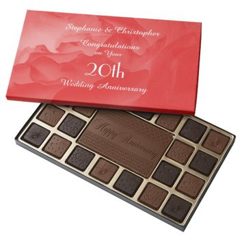 20th Wedding Anniversary Chocolate Candy