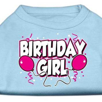 Birthday Girl Screen Print Shirts Baby Blue XL (16)