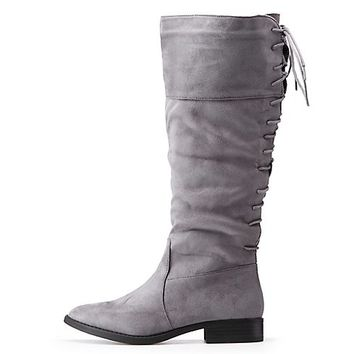 Lace-Up Riding Boots | Charlotte Russe