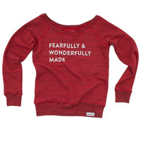 Fearfully and Wonderfully Made Red Women's Raglan