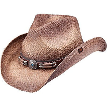 Peter Grimm Ltd Unisex Contraband Straw Cowboy Hat Brown One Size