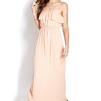 FOREVER 21 Enchanted Maxi Dress Blush Large