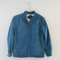 80s Windbreaker Jacket Members Only Jacket Retro Windbreaker Teal Jacket Lighweight Jacket Spring Jacket Fall Jacket 80s Jacket Retro Jacket