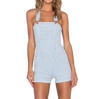 Joe's Jeans High Rise Short Overall in Jada