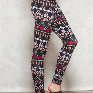 Ikat Peached Leggings