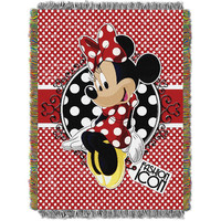 Minnie Bowtique-Forever Minnie 051  Woven Tapestry Throw Blanket (48x60)