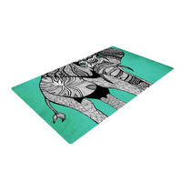 "Pom Graphic Design ""Elephant of Namibia Color"" Woven Area Rug"