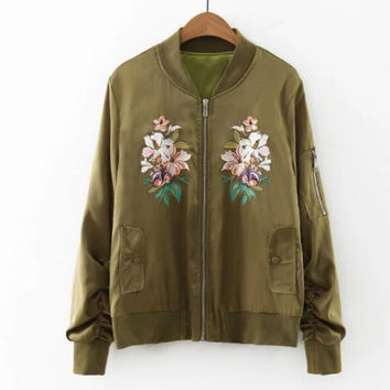 Lily lady's coat embroidered satin jacket