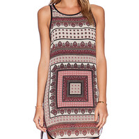 Ladakh On The Border Dress in Wine
