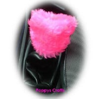 Barbie Pink Gear knob stick shift cover Hot faux fur furry fuzzy fluffy girly girl cute car pretty cerise feminine love woman lady