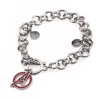 Avengers Age of Ultron Captain America Iron Man Charm Stainless Steel Bracelet