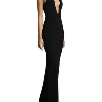 Solace London - Keira Cutout Strapless Column Gown