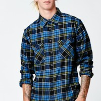 Quiksilver Sin Tank Flannel Long Sleeve Button Up Shirt - Mens Shirts - Black