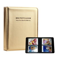 64 Pockets Foldout Album Photo Case for Mini FujiFilm Instax Instax Mini Film Polaroid 14 * 11cm Mini Album