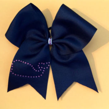Cheer bow super simple super cute pink with sparkle center