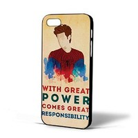 Spiderman Quote Great Power Responsibility for Iphone Case (iPhone 5/5S black)