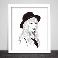 Taylor Swift Art Poster (3 sizes) // 1989 Shake it off unique artsy