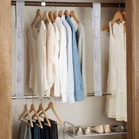 Double Closet Bar With Storage