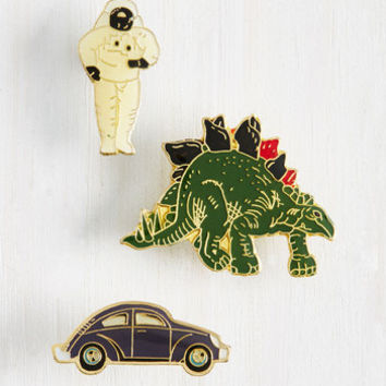 A Cast from the Past Enamel Pin Set | Mod Retro Vintage Pins | ModCloth.com
