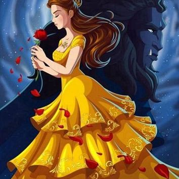 5D Diamond Painting Beauty and the Beast Profile Kit