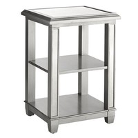 Hayworth Mirrored Pedestal Desk Shelf - Silver