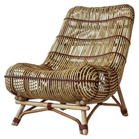 Trena Lounge Rattan Chair, Natural