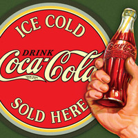 COKE - Ice Cold Bullseye Tin Sign at AllPosters.com