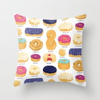 Donut Identification Throw Pillow by Smalltalkstudio