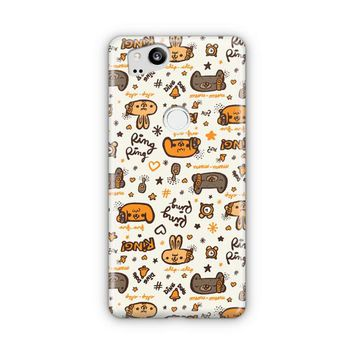 Useful Seamless Animal Patterns Google Pixel 3 Case | Casefantasy