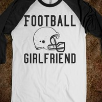 Football Girlfriend tee t shirt black/white-White/Black T-Shirt