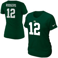 Aaron Rodgers Green Bay Packers Nike Women's Player Pride Name & Number T-Shirt - Green