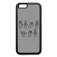 fuck you in sign language iPhone 7 Case