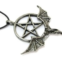 Pentacle of the Dragon Pewter Pendant, The Wiccan Collection