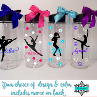 Personalized Dancer Water Bottle /Ballet/Lyrical/Jazz/Dancer Water Bottle with Name / Bulk Dance Team Gift/ Dance Coach Gift