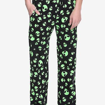 Alien Head Guys Pajama Pants
