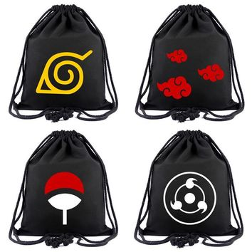 Cool Attack on Titan Anime Naruto Drawstring Bag  Tokyo Ghoul Bag Teenagers Travel Casual Bags School Backpack Chirldren Mochila Gift AT_90_11
