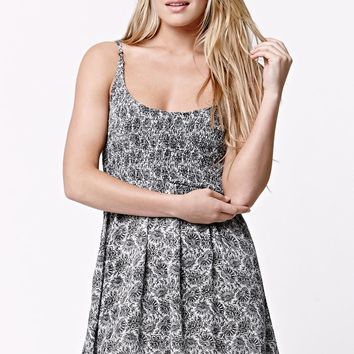 LA Hearts Smocked Fit & Flare Dress - Womens Dress - Black