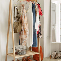 Wooden Clothing Rack - Urban Outfitters