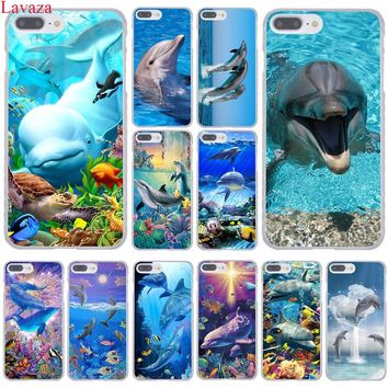 Lavaza ocean dolphin Dance And Jumping Hard Coque Shell Phone Case for Apple iPhone 8 7 6 6S Plus X 10 5 5S SE 5C 4 4S Cover