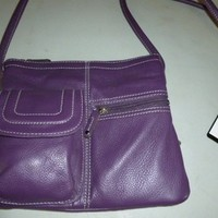 Tignanello Multi Pocket Organizer Violet Purple Cross Body Bag