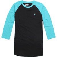 Hurley Icon Raglan T-Shirt - Mens Tee - Blue - Extra Large
