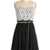 ModCloth Mid-length Strapless A-line Blockbuster Birthday Dress