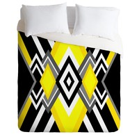 Elisabeth Fredriksson Yellow and Black Duvet Cover