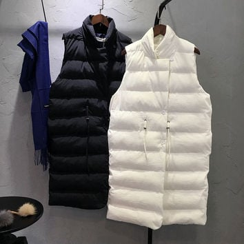 School of wind in the long section of pure cotton vest [8997728646]