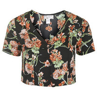 Floral Cropped Blouse by Band of Gypsies - Multi
