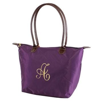 "MM Monogrammable Nylon 16"" Nylon Tote Bag 