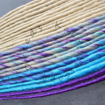 SALE! - Custom Blonde Turquoise and Purple SE or DE Synthetic Dreads - Dreadlock Accent Kit Choose Your Quantity!