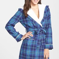 Women's Nordstrom Fleece Lined Flannel Robe,
